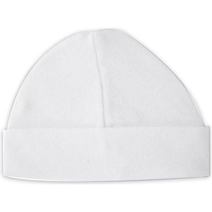 Bonnet Bébé Blanc Blanc - Achat   Vente bonnet - cagoule ... ff94d61a7f0