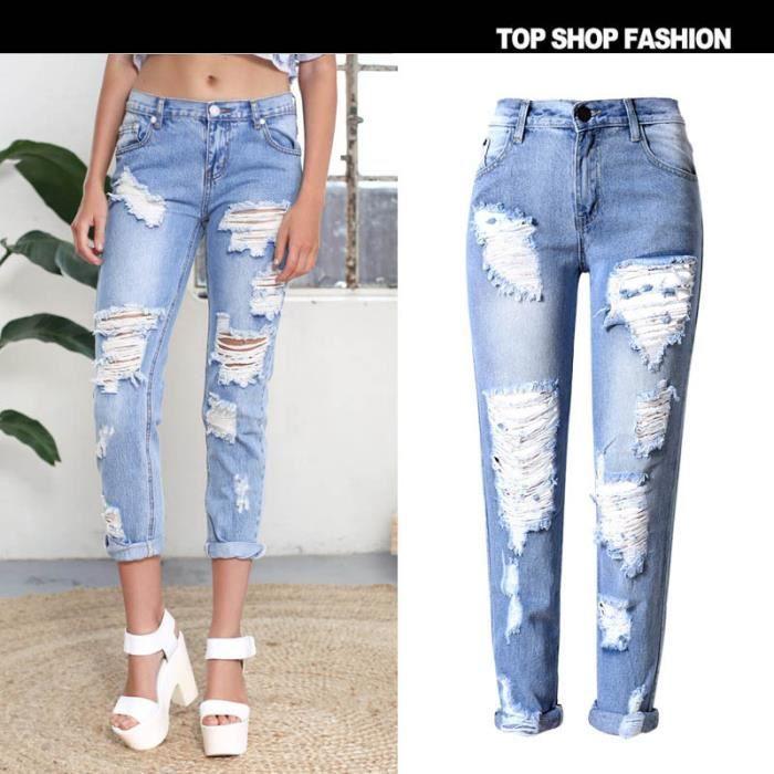 jeans troue achat vente jeans troue pas cher soldes d s le 10 janvier cdiscount. Black Bedroom Furniture Sets. Home Design Ideas