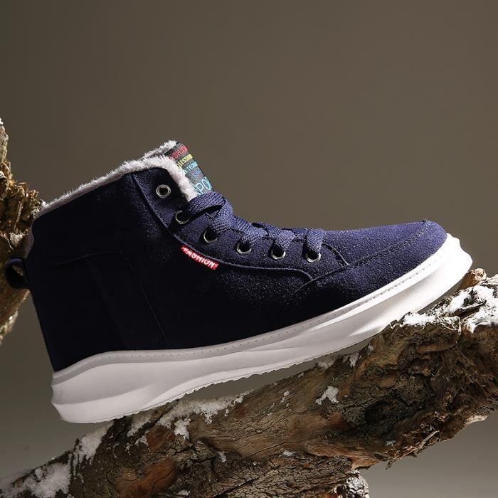 Botte basse Chaussures Homme Chaussures avec coton Chaussures pour l'hiver Botte original en solde Botte anti-glissant UGG