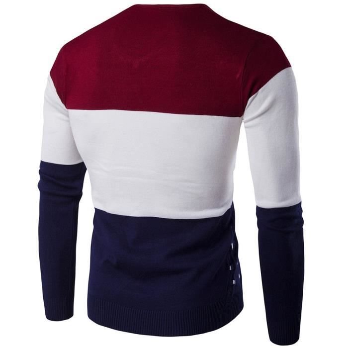 PULL Pull à manches longues Casual Réchauffez Tricot Pu