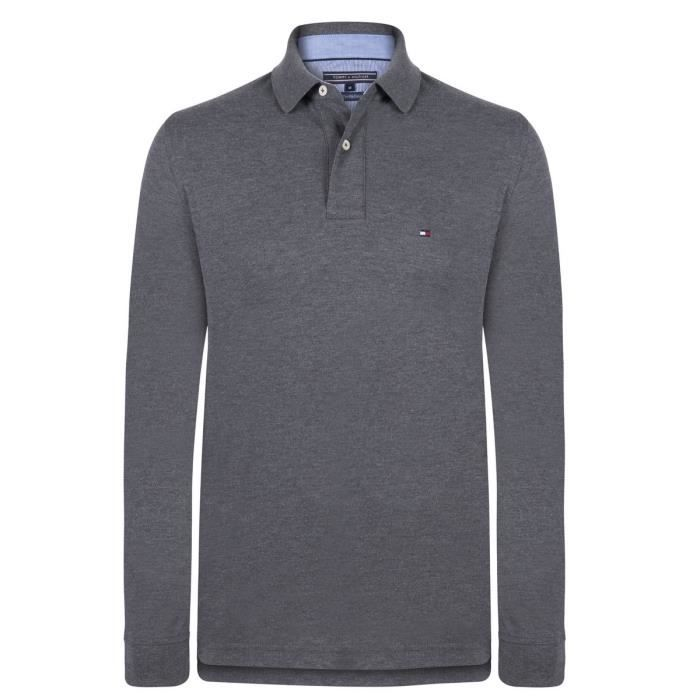POLO Tommy Hilfiger Polo Hommes Anthracite