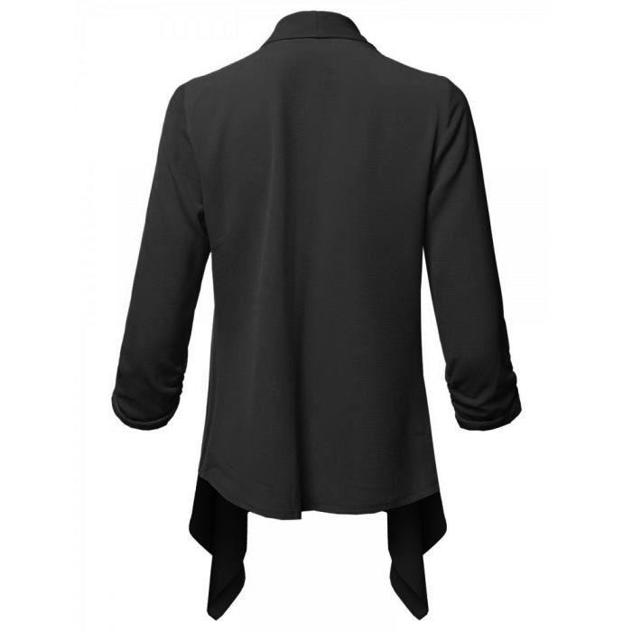 Veste Ouvert Longues Cardigan Avant Womens De Manches À Blazer Casual Solide Manteau Llw1905 xOwfYYqP