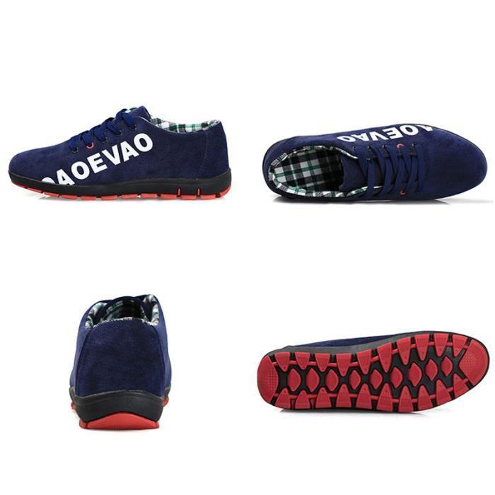 Chaussures De Sport Pour Hommes Textile De Course Antidérapant Populaire BLLT-XZ123Bleu39 hP3S9ksL1