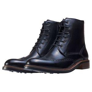 NW1 London Brogue Details Hommes Bottes Noir - 44 EU Noir Noir - Achat / Vente botte  - Soldes* dès le 27 juin ! Cdiscount
