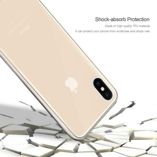coque iphone xs silicone avant arriere