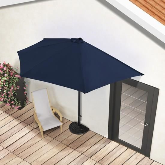 parasol en demi lune de 3 m de diametre vert achat vente parasol parasol en demi lune de 3 m cdiscount