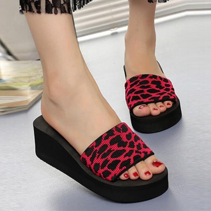 Été Femmes Chaussures Plate-Forme Chaussons De Bain Wedge Plage Slops Flops Chaussons Chaussures @XYM80227905RD