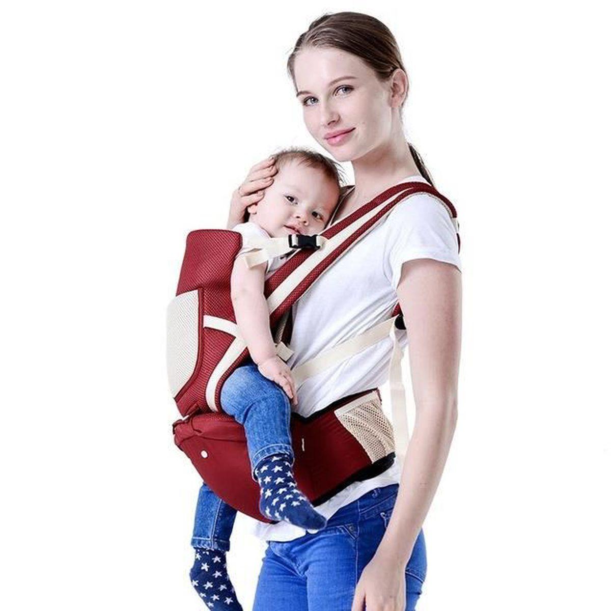 abf11218fa1 Porte bébé ventral et dorsal Haute qualité Rouge – Confort ...