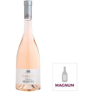 VIN ROSÉ Lot de 3 Magnums  Rose et Or Château Minuty 2017