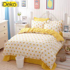 housse de couette jaune achat vente housse de couette jaune pas cher cdiscount. Black Bedroom Furniture Sets. Home Design Ideas