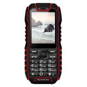 Téléphone portable Téléphone Antichoc Konrow Stone - 2.4'' - Noir - R