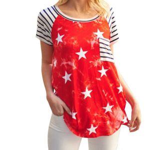 T-SHIRT T-Shirt Jour De l'indépendance À Manches Courtes O