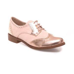 Derby Femmes Printemps Été Comfortable Mode Chaussures GD-XZ059Rouge37 VXCWO6