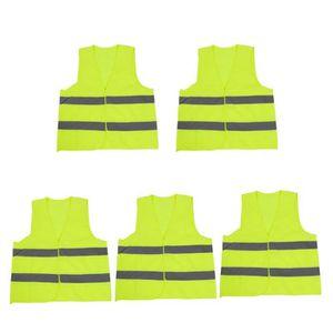 KIT DE SÉCURITÉ 5 Pcs Fluorescent Yellow Gray High Visibility Safe