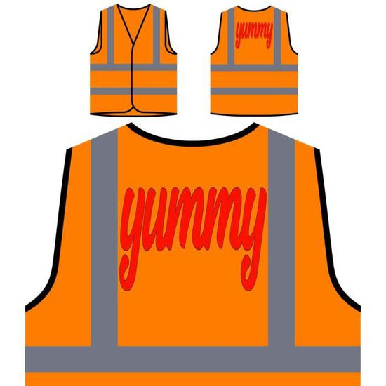 Visibilité K De À Personnalisée délicieux Protection Veste Orange Haute OqZf6