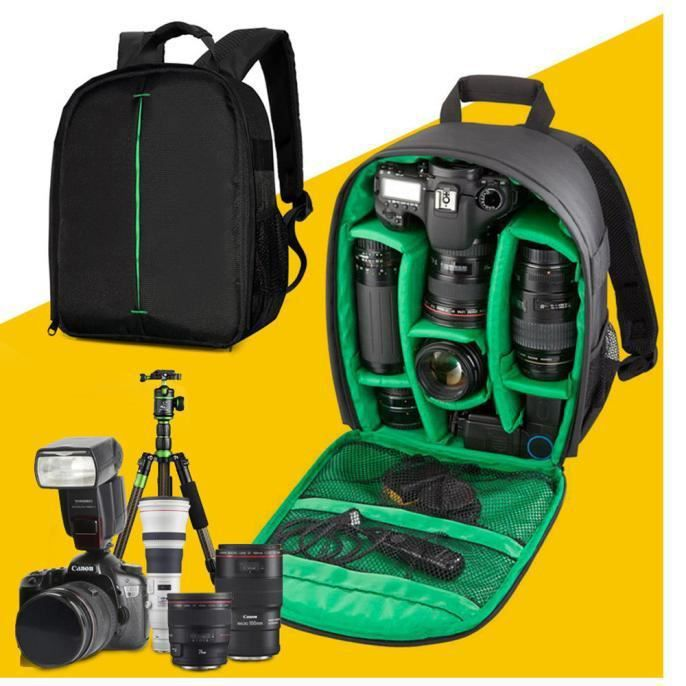 SAC PHOTO XLQ60530709GN@ 1PC Camera Bag Backpack Case DSLR é