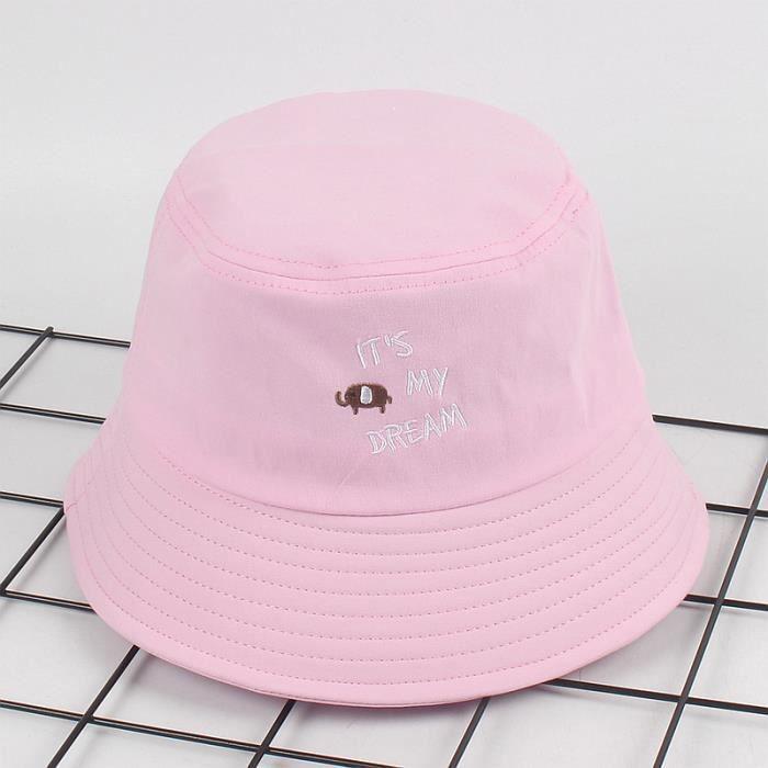 618c0cd77cfac Chapeau de Soleil Bob Plage Anti-UV Solaire pour Bébé Enfant Rose ...