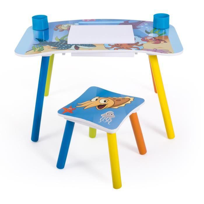TABLE ET CHAISE Bureau Table Dessin Avec Tabouret Pour Enfant Mo