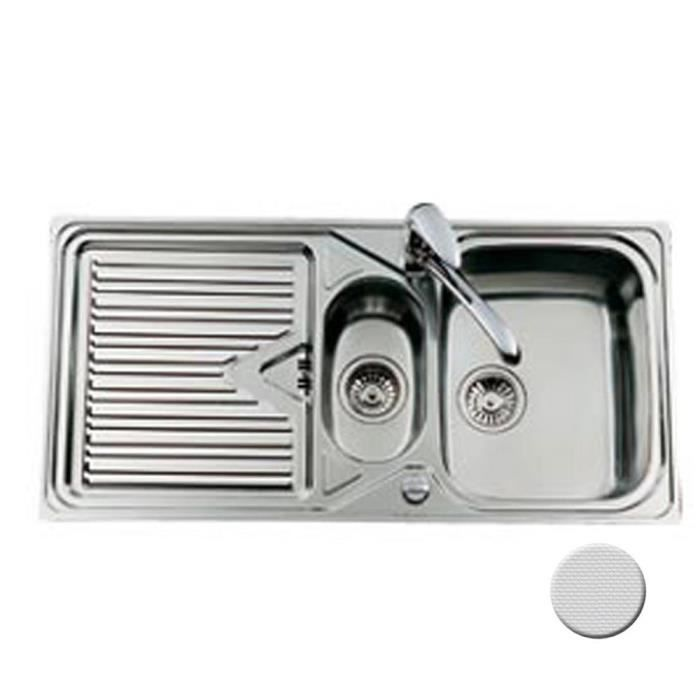 Evier Inox Nid D Abeille Maestro 1 Bac 1 2 1 Egouttoir Cuisissimo