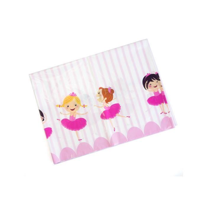 921e08dfe0f2 Nappe en plastique Ballerines 130 x 180 cm - Achat   Vente nappe de ...