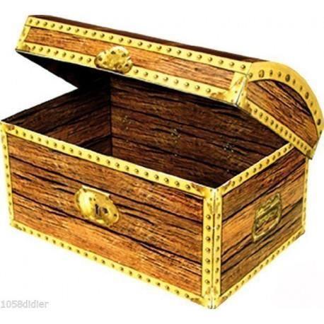 Image Coffre Pirate coffre à trésor carton - achat / vente bâton - épée - baguette