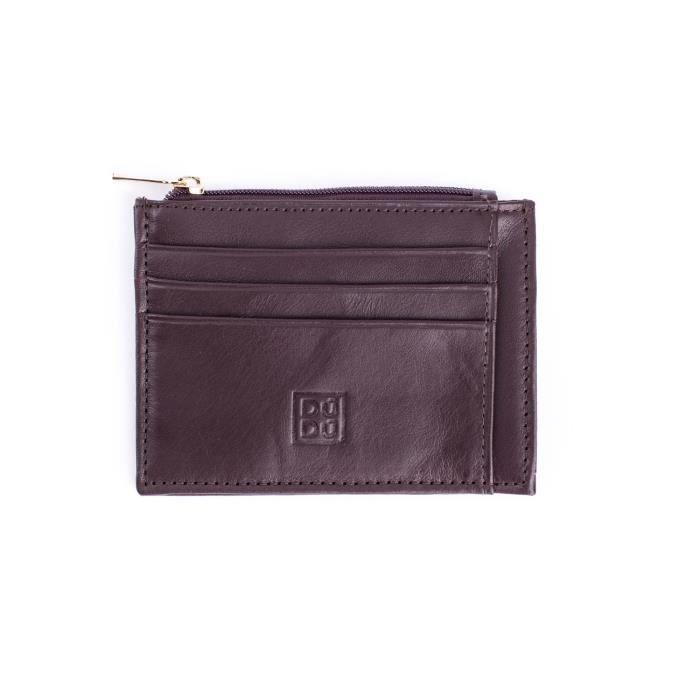 Porte-cartes de crédit en cuir pleine fleur. Nombreuses fentes pour cartes  de crédit et porte-monnaie zippé. Un accessoire aux di. 9c2766e8f63