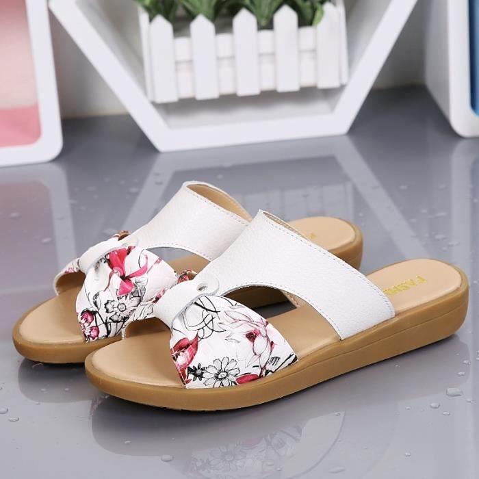 Sandales femmes plat nouvelle coréenne de mode de cuir 8cQ9QDz2