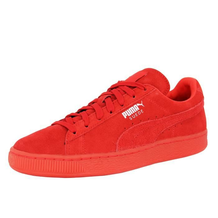 4497b489c63 Puma SUEDE CLASSIC MONO Chaussures Mode Sneakers H Rouge Rouge ...