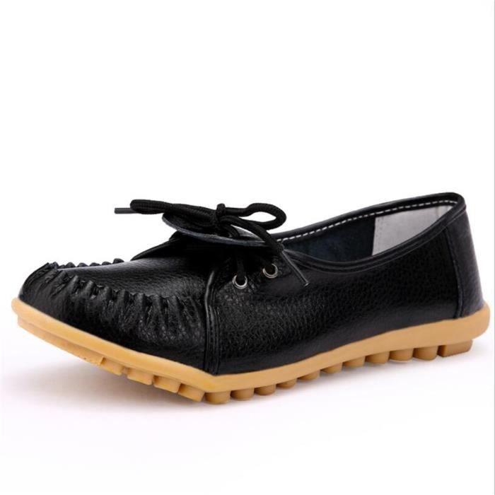 Femmes Moccasins Marque De Luxe Haut qualité Chaussures pour Femmes Cool Antidérapant chaussure plates Grandedssx087noir35