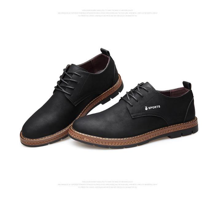 Confortable mode Chaussures Homme de Cuir chaussure DTG Hommes JOZSI XZ194Noir39 ville tqwTIgPI