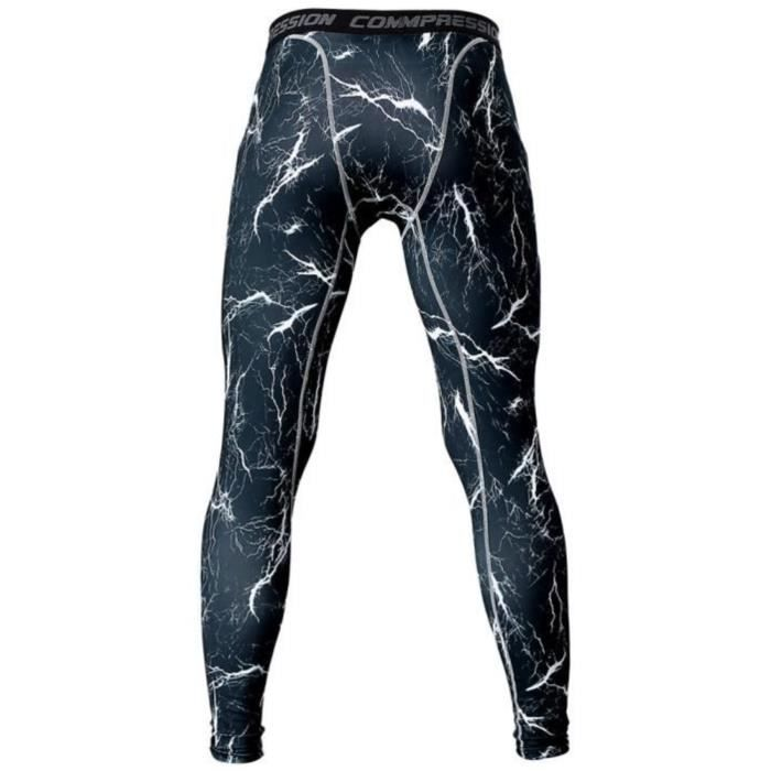 BPFY - TOP VENTE -Legging Sport Homme Graphic-Camouflage -  Fitness-Gym-Pilates - BLEU Taille S baa0b732515