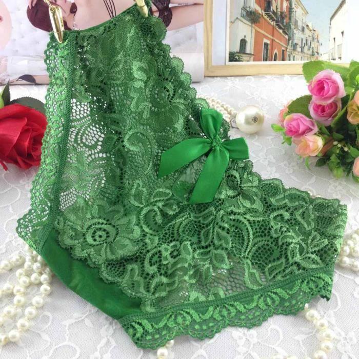 Transparente Dentelle Confort Corsaire Huadedu En Sous Femmes Vert Culottes Respirant vêtements qtqFRIwA