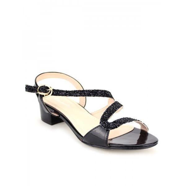 Sandales Noir Chaussures Femme, Cendriyon