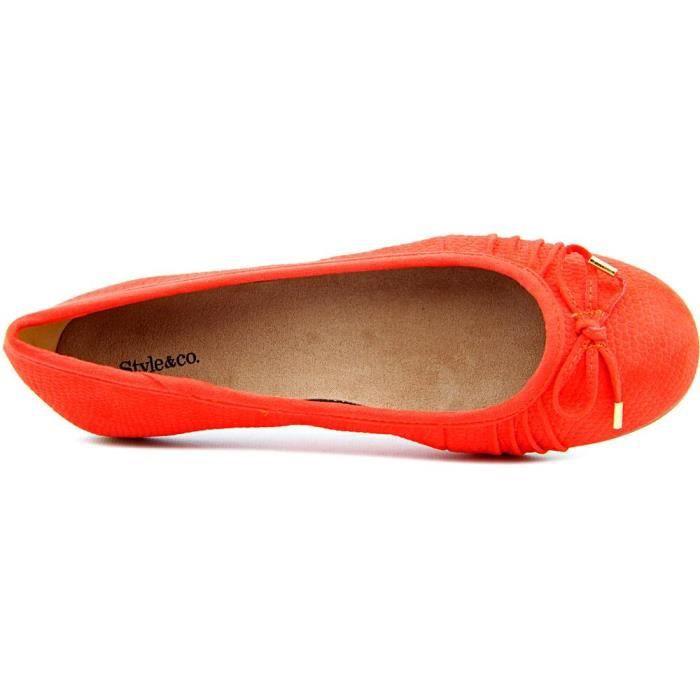 Style & Co Addia Simili daim Chaussure Plate KUQ86EmOEA