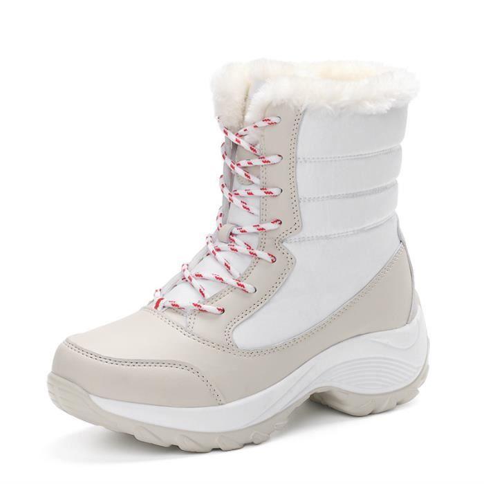 Bottes de neige automne hiver Dame à l'intérieur augmenter bottes courtes extérieure antidérapant chaussures chaussures en peluche