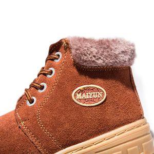 Martin Boots Enfants Hiver Garçons Fille Classique Chaussures BXFP-XZ101Marron32-s 9FlkZ