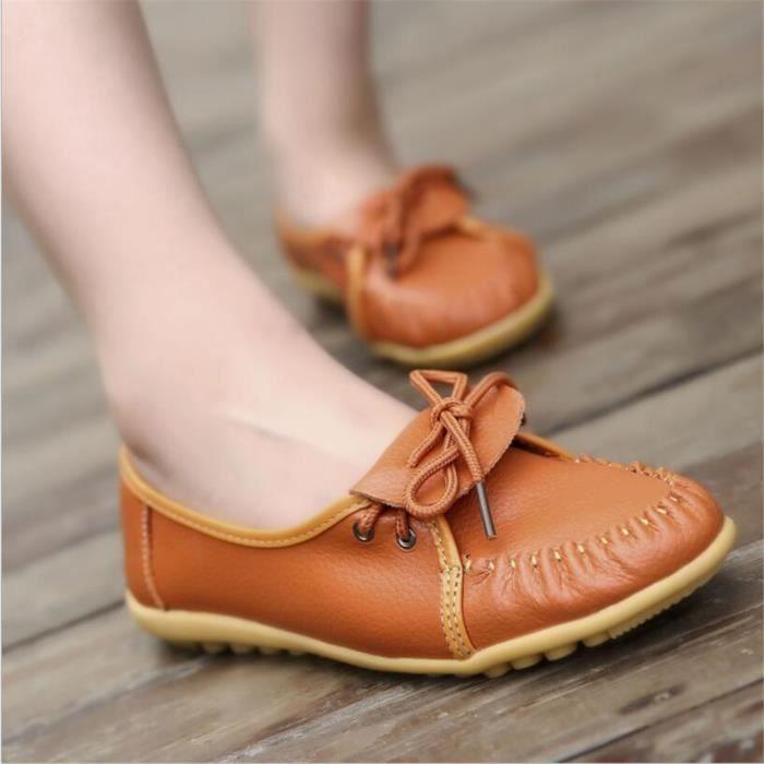 Femmes Moccasins Marque De Luxe Haut qualité Chaussures pour Femmes Cool Antidérapant chaussure plates Grandedssx087noir35 pCSJDait