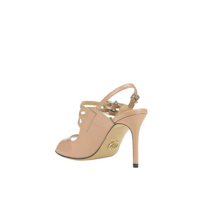 LUCIANO PADOVAN FEMME MCGLCAT03108E BEIGE CUIR CHAUSSURES À TALONS
