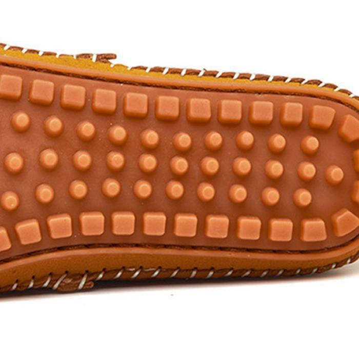 Chaussures En Cuir Souple Hommes Chaussures Léger En Cuir Sur Des Respirant Chaussures Véritable ConduireMocassins Chaussure