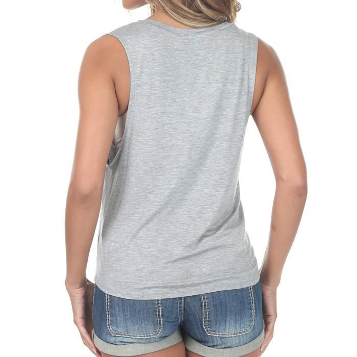 Fit Women's Basic Scoop 38 Top Taille Loose Neck Sleeveless Jpsqs Tank qXXHZw1rx