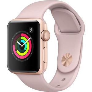 MONTRE CONNECTÉE AppleWatch 38mm series 3 Or W/ Rose Sand Sport Ba