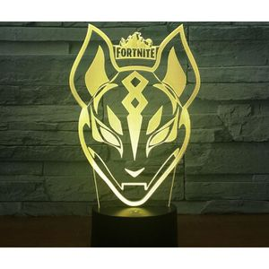 objets lumineux deco 3d night light acrylic lamp led jeux fortnites tig - fortnite anniversaire deco