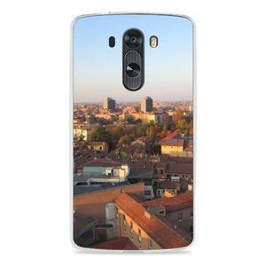 COQUE - BUMPER Coque Silicone Transparente pour LG G3 - Bologne H