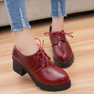 BOTTINE chaussures femmes célibataires britanniques avec l