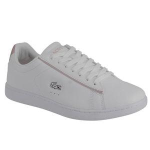 0eeb641483 Sneaker Lacoste Carnaby evo 217 en blanc et rose. Blanc Blanc ...