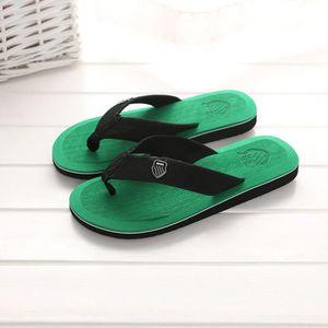 Pantoufles d'été pour hommes Pantoufles de plage Sandales d'intérieur et d'extérieur @SJF80104732YE Qkopqbz