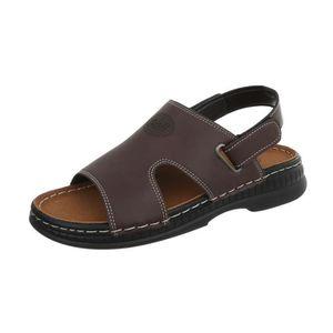 25456f0abec SANDALE - NU-PIEDS Hommes chaussures sandales Velcro Sandales d extér