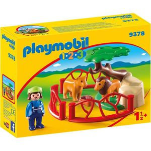 FIGURINE - PERSONNAGE PLAYMOBIL 1 2 3 9378 - PLAYMOBIL 1.2.3 - Lions ave