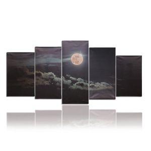 TABLEAU - TOILE 5X/set Tableau Peinture Huile Lune Abstraite Moder