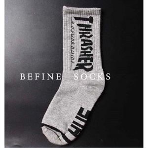 plus récent 939ec 53c74 VOLIBEAR® 2 paires THRASHER Lettres chaussettes de cotton ...